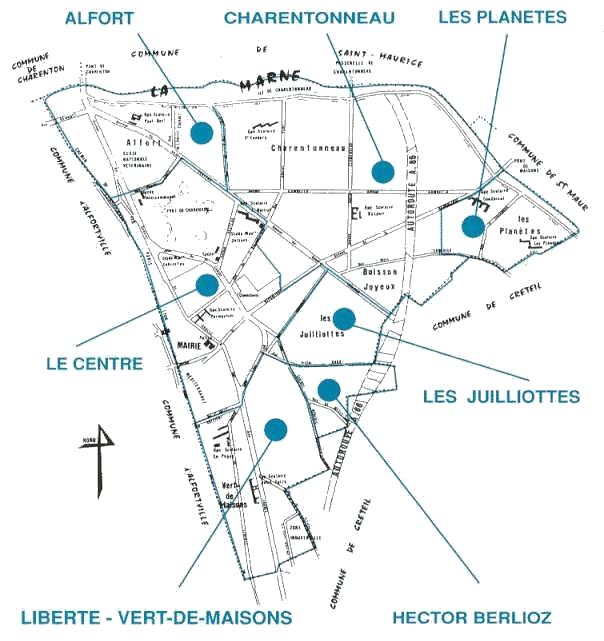 plan de quartier maison alfort